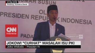 Jokowi 'Curhat' Masalah Isu PKI