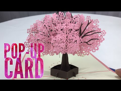 Xxx Mp4 3D Pop Up Pink Tree Greeting Card By YHMALL Review 3gp Sex