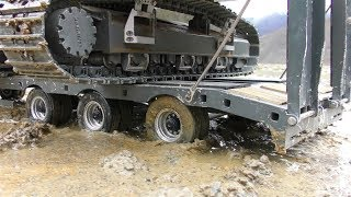 HEAVY RC VEHICLES AND MACHINES WORK IN THE MUD! COOL RC ACTION ON THE REAL CONSTRUCTION! RC ACTION