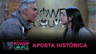 Tatí faz a maior aposta da história do Power Couple em Nizo