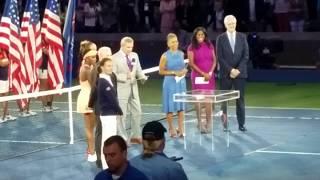 Sloane Stephens US Open Championship trophy presentation ceremony