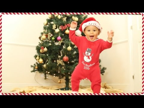 WALKING AT 9 MONTHS - BABY'S FIRST CHRISTMAS #VLOGMAS WEEK 1 | AdannaDavid