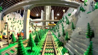 Huge Lego Train City with Underwater world