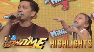 It's Showtime MiniMe 3: Showtime hosts make a Mini Me contestant cry