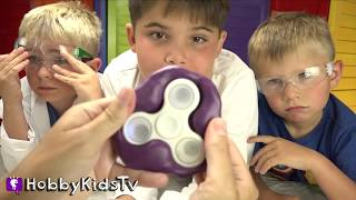 Real ICE Fidget Spinner! How to Make Frozen Homemade DIY Family Fun Spinner HobbyKidsTV