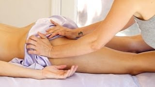 Massage Therapy Techniques Legs, Thighs & Hips, For Cyclists Jen Hilman Relaxing ASMR