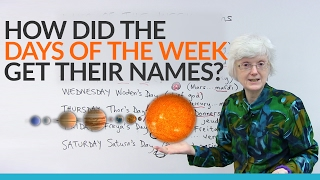Where do the names of the days of the week come from?
