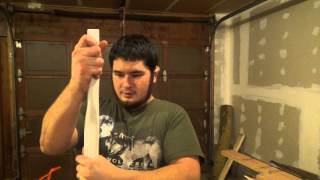 Building the 45 Pound Faux Bloodwood PVC Bow Part 1 - Shaping the Bow