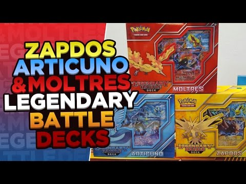 Opening ALL 3 Pokemon Legendary Battle Decks Featuring Articuno Zapdos & Moltres
