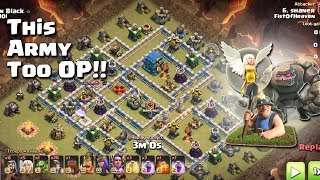 GOLEM + 28 MINERS= Too OP!! | TH12 War Strategy #67 | COC 2018 |