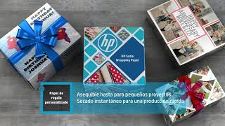 Introducing HP Satin Wrapping Paper (Spanish)