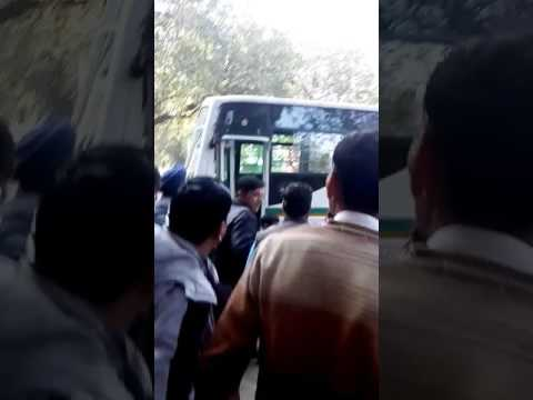 Bus accident on Ito Andhra school bus