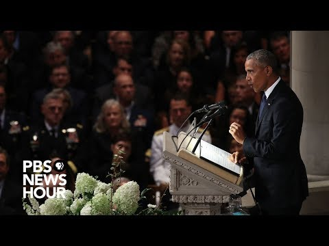 Xxx Mp4 Watch President Barack Obama39s Full Tribute To John McCain At National Cathedral 3gp Sex