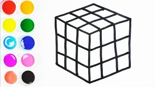 Cómo Dibujar y Colorear Un Cubo Mágico - Arte y Color Para Niños - Learn Colors / FunKeep