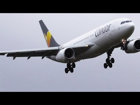 StormGareth 6 ABORTED LANDINGS GO AROUNDS & WIND SHEAR at Manchester Airport 13 03 2019