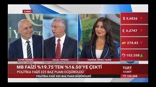 Merkez Bankası Politika Faizini 325 Baz Puan Düşürdü