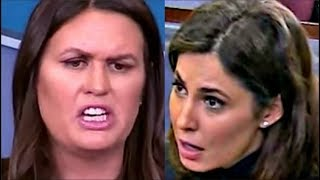 Sarah Sanders Goes Off on reporter when asked on Trump's latest tweets