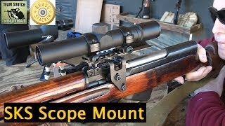 SKS Scout Scope Mount by Brass Stacker