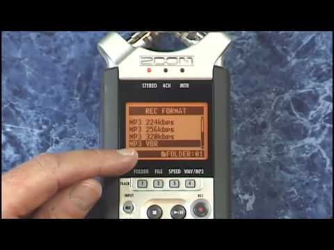 Zoom H4n Tutorial Review Mic Lo Cut and other Record Settings