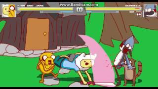 Mugen battles #4 Finn and jake (Me) Vs Rigby and Mordecai