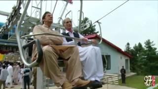 Imran Khan Inaugurates Swat Malam Jabba Modern Chairlift - 02-09-2016 - 92NewsHD