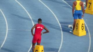 Jamaica Carifta Trials Boys Under 20 400M Finals... A blistering 45.41