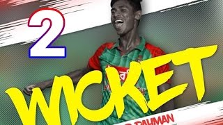 Mustafizur Rahman 2 wicket New Zealand 3rd ODI