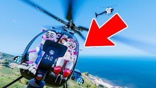 Sister Location Animatronics Helicopter Chase! GTA 5 Mods FNAF Itsmellslikehonor