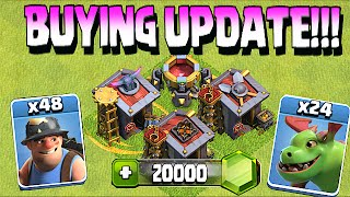 Clash Of Clans - BUYING NEW UPDATE!! (Miner,Baby dragon & More!)