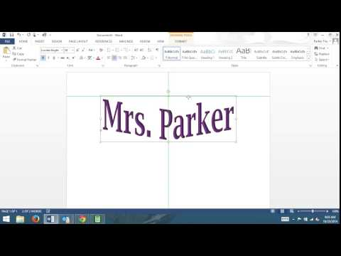 Insert Word Art to Word 2013