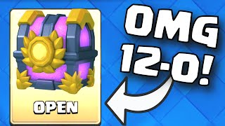 Clash Royale 12-0 GRAND CHALLENGE DECK (FIRST PLACE CHEST OPENING) NEW BEST UNBEATABLE DECK STRATEGY