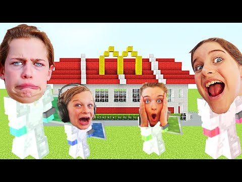 WHICH NORRIS NUT BUILDS THE BEST RESTAURANT in Minecraft Gaming w The Norris Nuts