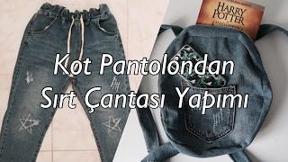 Eski Kot Pantolondan Sırt Çantası Yapımı