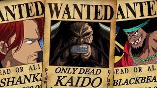 One Piece - Yonko Crews - Bounties