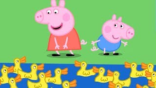 Peppa Pig English Episodes | Peppa at Duck Land! | Cartoons for Children #144
