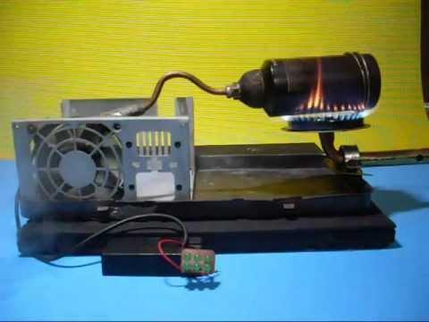 Generador casero a vapor con cooler de PC