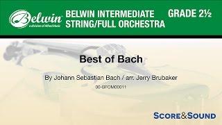 Best of Bach, arr. Jerry Brubaker – Score & Sound