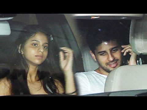Shahrukh's Daughter Suhana & Sidharth Malhotra SPOTTED At Karan Johar's House