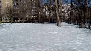 The first real spring day in Moscow. April 4, 2018
