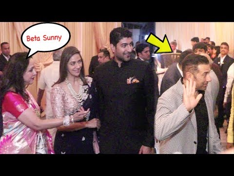 Sunny Deol Ignores Stepmother Hema Malini At Isha Ambani Wedding Reception