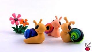 LEPIMY! ŚLIMACZEK z modeliny \ easy SNAIL - tutorial polymer clay