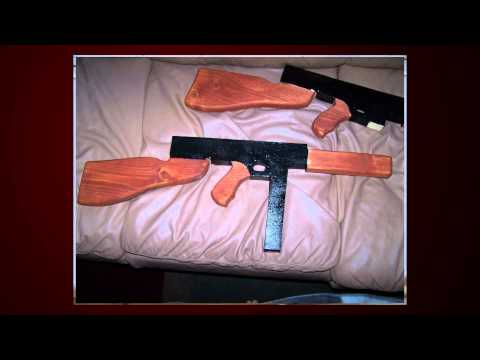 How to make wooden Thompson M1A1 in 10 Steps