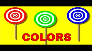Learn Colors With Lollipops -  Children Learning Video