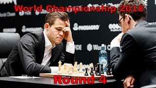 Carlsen - Caruana: World Championship Match 2018, Round 4