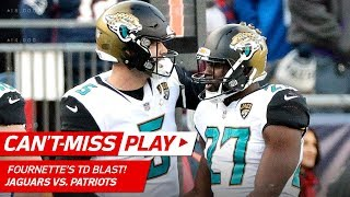 Fournette Powers Through Pats for TD to Extend Lead! | Can