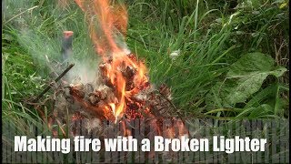 Fire without matches - 20 Ways to Make Fire with a Broken Lighter