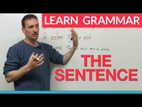Learn English Grammar: The Sentence
