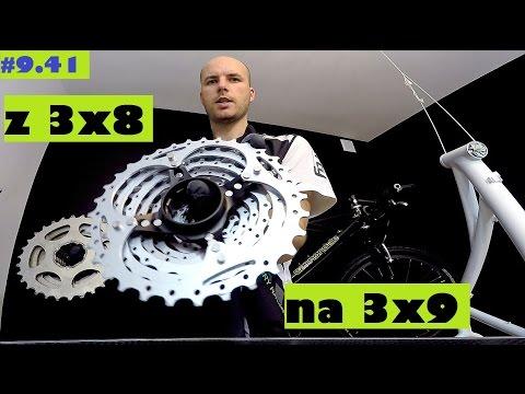 Zmieniamy napęd w rowerze z 3x8 na 3x9 - kaseta Shimano XT, korba XTR, przerzutki XTR i LX.