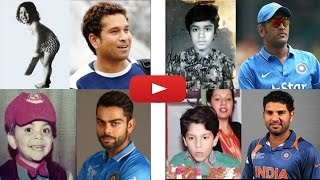 top 10 indian Cricket players childwhood pictures (male cricketer)