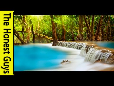 10 HOURS Relaxation Music With Waterfall Sounds for Study Meditation Sleep